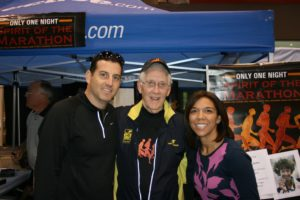 """Me, Gerald Meyers, and Lori O'Connor from """"Spirit of the Marathon"""""""