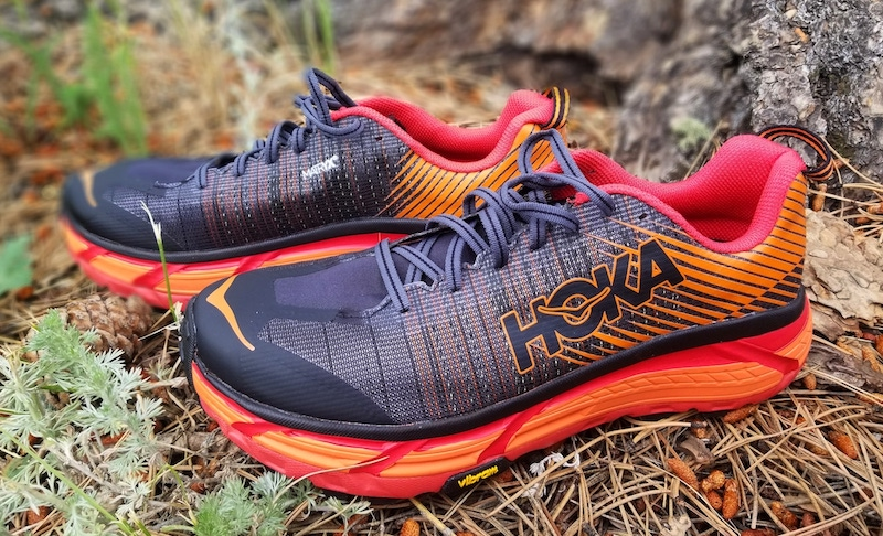 best trail running shoe of 2019 - hoka evo mafate 2
