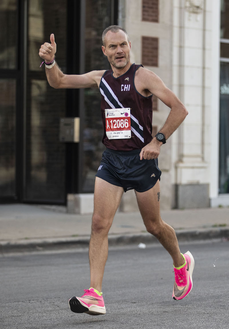 jeff dengate running chicago marathon