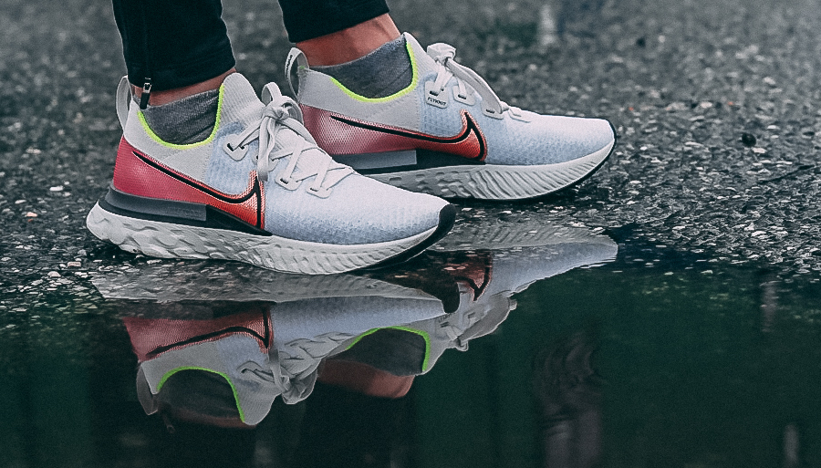 Nike React Infinity puddle