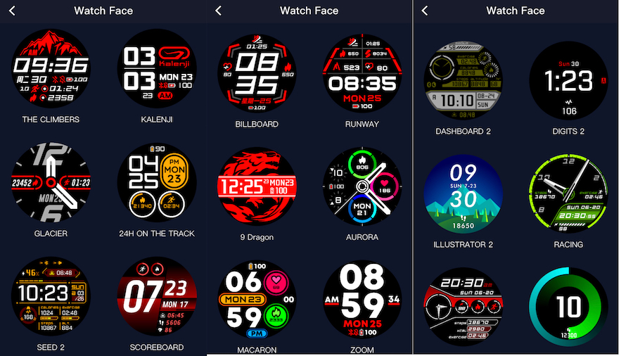 COROS Pace 2 Watch Faces